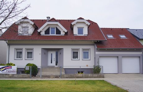 Fassade grau-weiß - Malerei Horvath