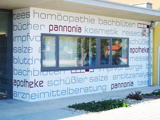 Fassadenbeschriftung Malerei Horvath